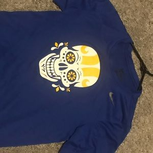 Rams skull shirt/ day of the dead